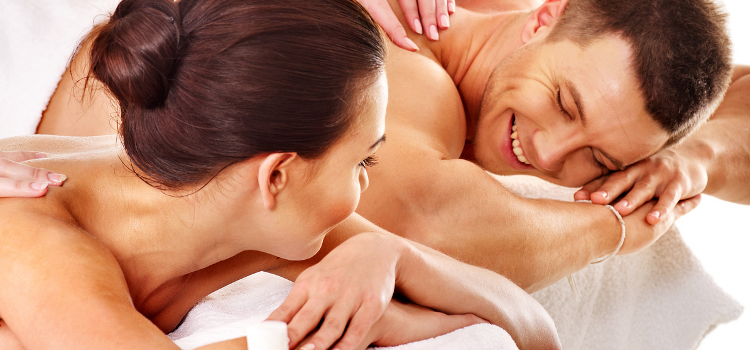 In pairs couple's massage