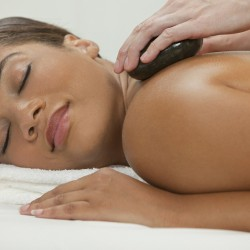 Hot stone theraputic massage